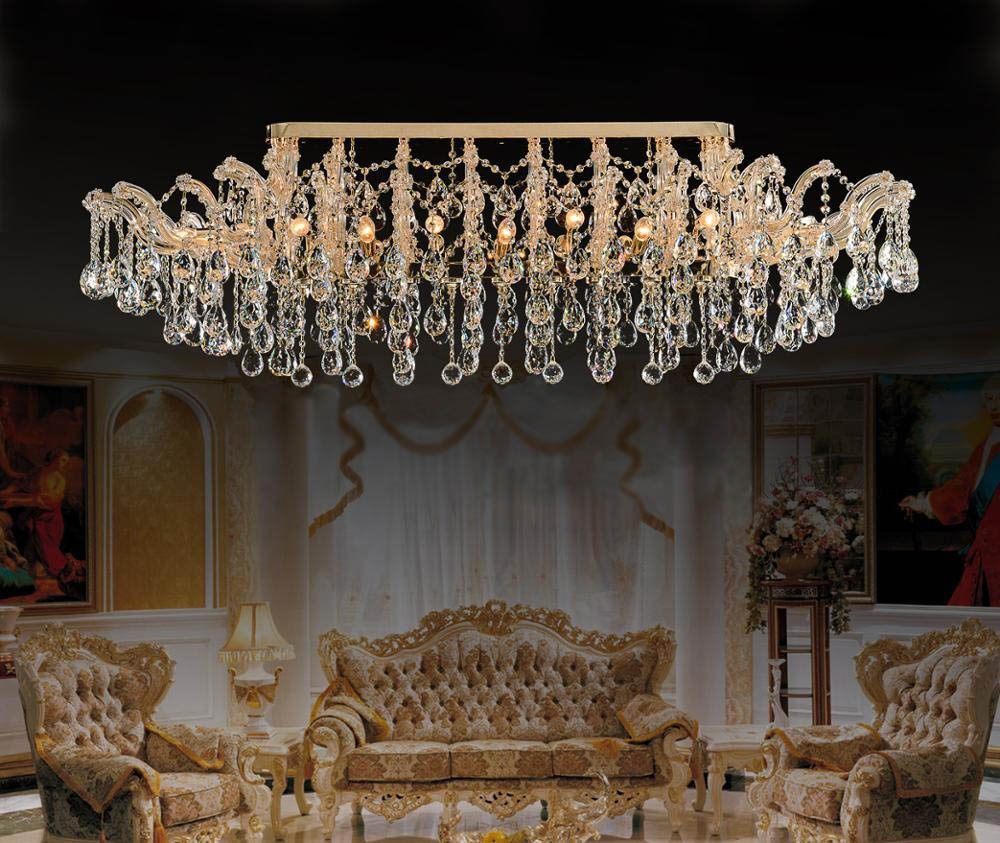 flush mount maria theresa crystal chandelier for home decoration